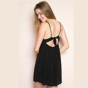 Brandy Melville Rosen Tie Back Dress
